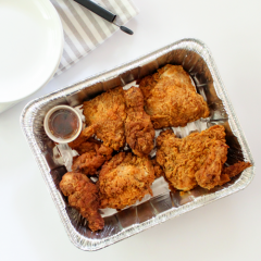 All Natural Buttermilk Fried Chicken with Ancho Honey Glaze