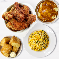 Fried Chicken Picnic Meal