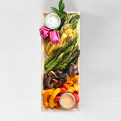 Small Grilled Balsamic Vegetable & Dip Display